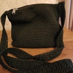 Handbags - Black knitted crossbody bag